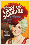 "Movie Posters:Romance, The Lady of Scandal (MGM, 1930). One Sheet (27"" X 41"") Sound Style.. ..."