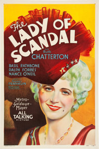 "The Lady of Scandal (MGM, 1930). One Sheet (27"" X 41"") Sound Style"