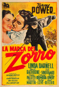 "Movie Posters:Swashbuckler, The Mark of Zorro (20th Century Fox, 1940). Argentinean Poster (29.25"" X 43.25"").. ..."