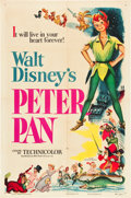 """Movie Posters:Animated, Peter Pan (RKO, 1953). One Sheet (27"""" X 41"""").. ..."""