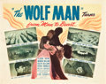 "Movie Posters:Horror, The Wolf Man (Realart, R-1948). Title Lobby Card (11"" X 14"").. ..."
