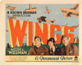"Movie Posters:Academy Award Winners, Wings (Paramount, 1927). Title Lobby Card (11"" X 14"").. ..."
