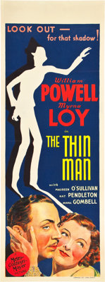 "The Thin Man (MGM, 1934). Pre-War Australian Daybill (15"" X 40"")"
