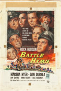 "Movie Posters:War, Battle Hymn (Universal International, 1957). Reynold Brown OriginalOne Sheet Artwork in Gouache (17"" X 26"") and Artwork Con... (Total:3 Items)"