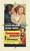"Movie Posters:Drama, The Unguarded Moment (Universal International, 1956). Reynold BrownOriginal Three Sheet Artwork in Gouache (17.5"" X 30"").. ..."