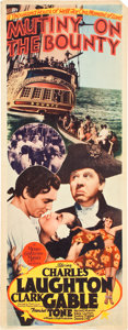 """Movie Posters:Adventure, Mutiny on the Bounty (MGM, 1935). Insert (14"""" X 36"""").. ..."""