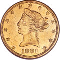 Liberty Eagles, 1883-CC $10 AU50 PCGS....