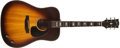 Musical Instruments:Acoustic Guitars, 1974 Gibson J-160 E Mahogany Guitar, #B004043....