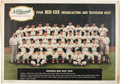 Autographs:Others, 1959 Boston Red Sox Team Huge Poster Signed by Ted Williams....