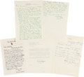 "Autographs:Others, 1952 Connie Mack ""Baseball's Greatest Line-Up"" Correspondence Archive...."