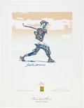 Autographs:Others, 1996 Ted Williams Signed Serigraphs by Carlos Beninati Lot of 3....