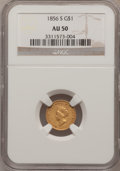 Gold Dollars, 1856-S G$1 Type Two AU50 NGC....