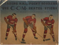 Hockey Collectibles:Photos, Circa 1940-41 Detroit Red Wings CCM Advertising Broadside - OnlyExample Known!...