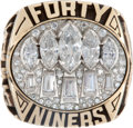 """Football Collectibles:Others, 1995 Super Bowl XXIX Steve Young San Francisco 49ers """"Balfour"""" Salesman's Sample Ring...."""
