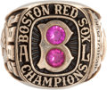 Baseball Collectibles:Others, 1967 Boston Red Sox American League Championship Salesman's SampleRing....