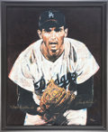 Autographs:Others, Circa 2000 Sandy Koufax Signed Serigraph by Stephen Holland....