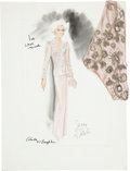 Movie/TV Memorabilia:Original Art, Randy McLaughlin of Jeran Collection - Lana Turner Design Sketch....
