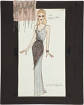 Movie/TV Memorabilia:Original Art, Randy McLaughlin of Jeran Collection - Cheryl Ladd DesignSketch....
