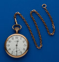 Timepieces:Pocket (post 1900), Ball 19 Jewel Official Standard B 216305, with Chain. ...