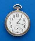 Timepieces:Pocket (post 1900), Elgin 19 Jewel B.W. Raymond, Locomotive Case. ...
