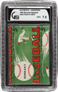 Baseball Cards:Other, 1954 Bowman Baseball Unopened Wax Pack GAI NM+ 7.5...