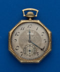 Timepieces:Pocket (post 1900), Elgin, 14k Gold, 17 Jewel 12 Size. ...