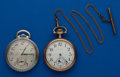 Timepieces:Pocket (post 1900), Two - Elgin 16 Size Watches. ... (Total: 2 Items)