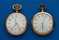 Timepieces:Pocket (post 1900), Two - 16 Size Running Pocket Watches. ... (Total: 2 Items)