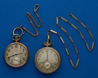 Two - Elgin's Running 12 Size Pocket Watches