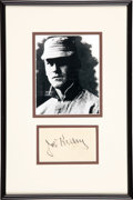 Autographs:Others, Circa 1940 Joe Kelley Signed Page....