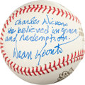 "Autographs:Baseballs, Dean Koontz ""Charles Dickens Inscription"" Single SignedBaseball...."