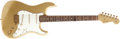 Musical Instruments:Electric Guitars, 1960 Fender Stratocaster (Relic) Gold Electric Guitar, #R23427....