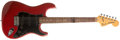 Musical Instruments:Electric Guitars, 1979 Fender Stratocaster Translucent Red Electric Guitar,#S943746....
