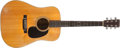 Musical Instruments:Acoustic Guitars, 1969 Martin D-28 Natural Acoustic Guitar, #242236....