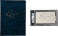 """Football Collectibles:Others, O.J. Simpson Signed """"I Want to Tell You"""" Hardcover Book and Index Card...."""