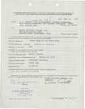 Football Collectibles:Others, 1975 O.J. Simpson Signed Contract....