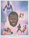 Boxing Collectibles:Autographs, Joe Frazier Signed Lithograph....