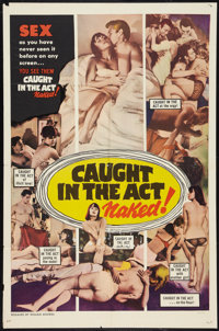 """Caught in the Act (William Mishkin Motion Pictures Inc., 1966). One Sheet (27"""" X 41""""). Sexploitation"""