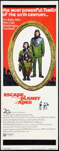 "Movie Posters:Science Fiction, Escape from the Planet of the Apes (20th Century Fox, 1971). Insert (14"" X 36""). Science Fiction.. ..."