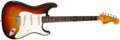 Musical Instruments:Electric Guitars, 1973 Fender Stratocaster Hard tail Sunburst Electric Guitar, #530228....