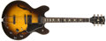 Musical Instruments:Electric Guitars, 1981 Gibson ES-335 Sunburst Electric Guitar, #80501X13....