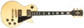 Musical Instruments:Electric Guitars, 1974 Gibson Les Paul Custom White Electric Guitar, #511714....