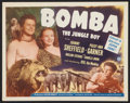 "Movie Posters:Adventure, Bomba, the Jungle Boy (Monogram, 1949). Title Lobby Card (11"" X14""). Adventure.. ..."