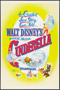 "Movie Posters:Animated, Cinderella (Buena Vista, R-1957). One Sheet (27"" X 41""). Animated.. ..."