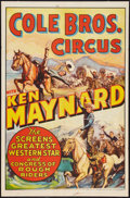 "Movie Posters:Western, Ken Maynard Circus Poster (Cole Brothers, 1930s). Poster (27"" X 40.75""). Miscellaneous.. ..."