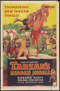 "Movie Posters:Adventure, Tarzan's Hidden Jungle (RKO, 1955). One Sheet (27"" X 41"").Adventure.. ..."