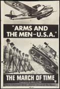 """Movie Posters:Documentary, The March of Time """"Arms and The Men -- U.S.A."""" (RKO, 1940). One Sheet (27"""" X 40.5""""). Documentary.. ..."""