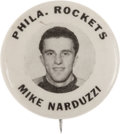 Hockey Collectibles:Others, 1947 Mike Narduzzi Philadelphia Rockets Pinback Button....