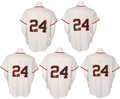 Autographs:Jerseys, 2000's Willie Mays Signed Jerseys Lot of 5....