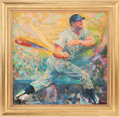 Baseball Collectibles:Others, 1962 Mickey Mantle Original Painting by LeRoy Neiman....